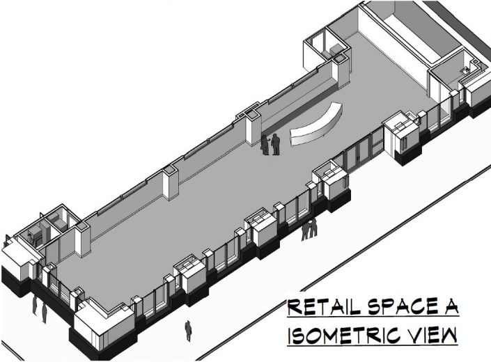 Peregrine 100 Retail Space A Isometric View
