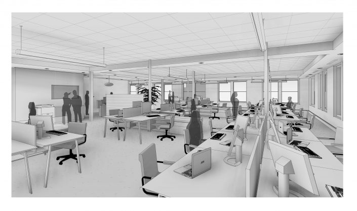 Peregrine Square Second Floor Office Rendering
